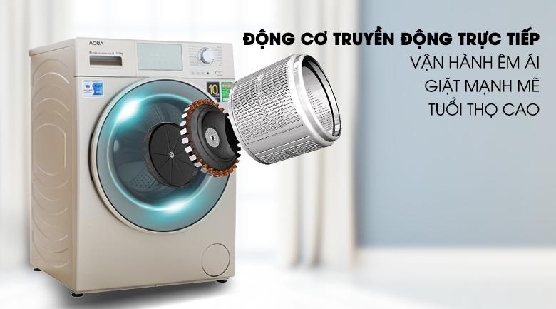 Máy giặt Aqua Inverter 10.5 kgAQD-D1050E.N- động cơ truyền động