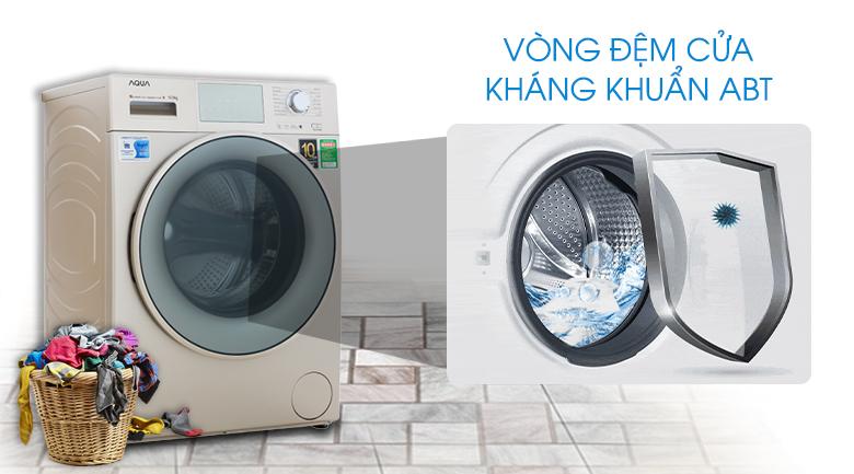 Máy giặt Aqua Inverter 10.5 kgAQD-D1050E.N- cửa đệm kháng khuẩn