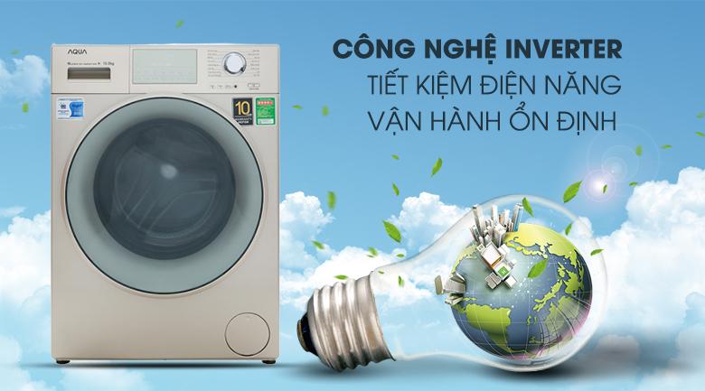 Máy giặt Aqua Inverter 10.5 kgAQD-D1050E.N- tiết kiệm điện nước