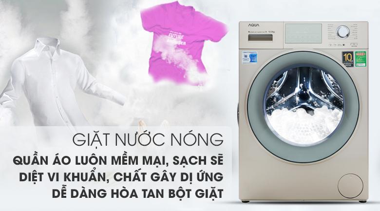 Máy giặt Aqua Inverter 10.5 kgAQD-D1050E.N- giặt nước nóng