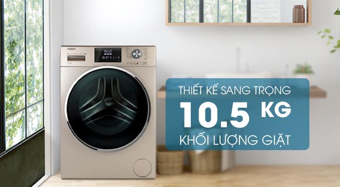 Máy giặt Aqua Inverter 10 KgAQD-DD1050E.S thiết kế