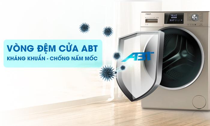 Máy giặt Aqua Inverter 10 KgAQD-DD1050E.S Vòng đệm của ABT