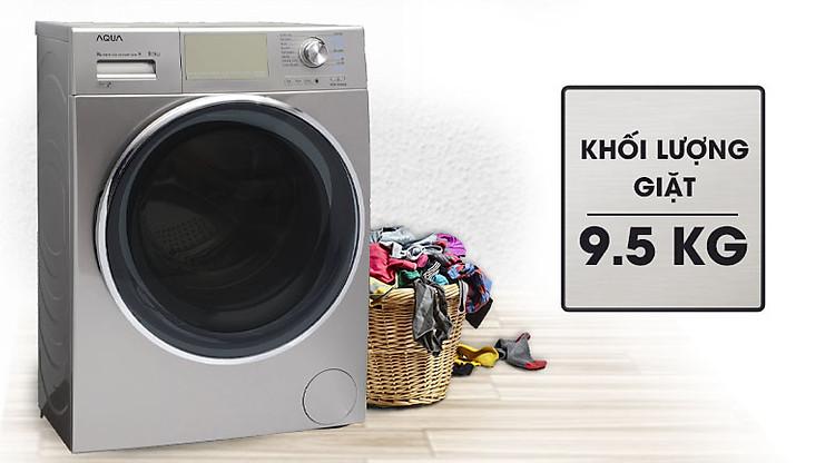 Máy giặt Aqua Inverter 9.5 kgAQD-DD950E.N Thiết kế trọng lượng