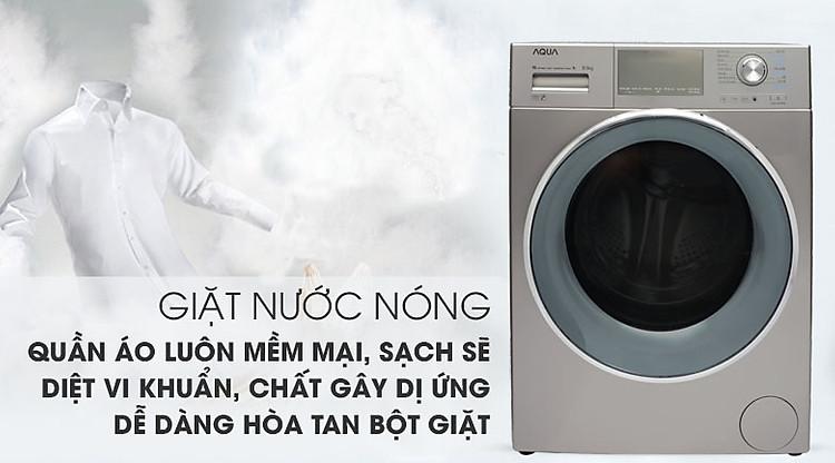 Máy giặt Aqua Inverter 9.5 kgAQD-DD950E.N giặt nước nóng