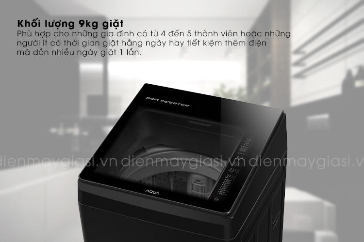 may-giat-aqua-9kg-inverter-aqw-d90ctbk-khoi-luong