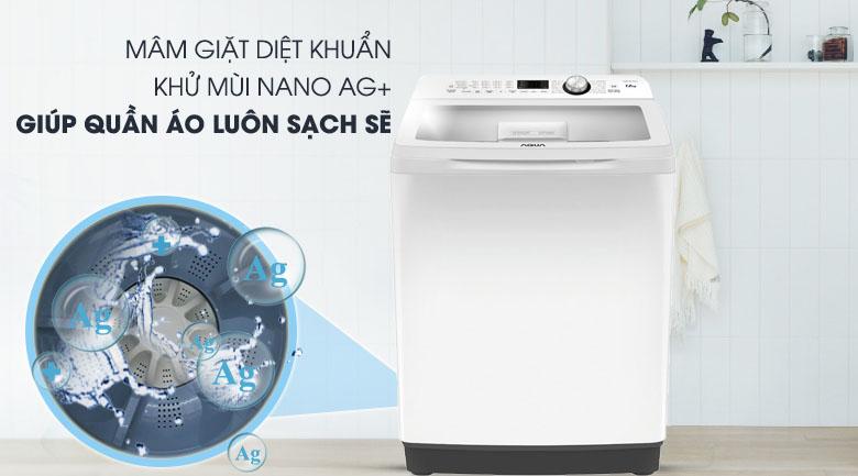 công nghệ nano ag+ Máy giặt Aqua 10 KgAQW-FR100ET.W