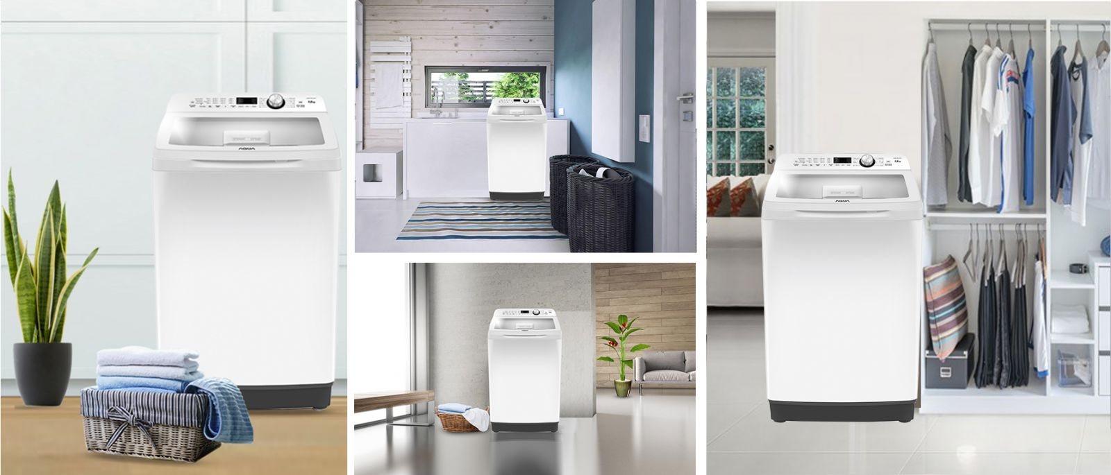 thiết kế Máy giặt Aqua 10 KgAQW-FR100ET.W