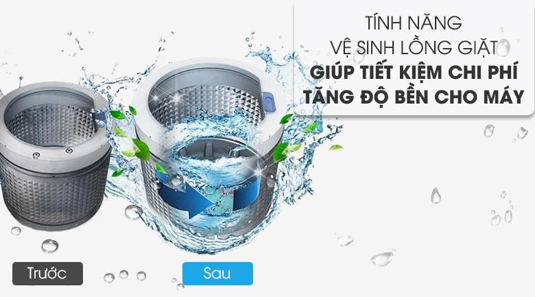 tự động vệ sinh lồng giặt Máy giặt Aqua 10 KgAQW-FR100ET.W
