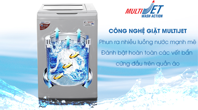 công nghệ multi jet wash action Aqua 8 Kg AQW-S80AT