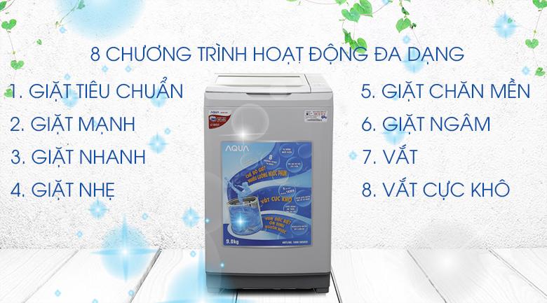 8 chương trình giặt may-giat-aqua-aqw-s90at9-kg