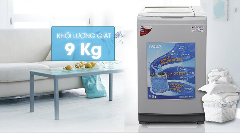 thiết kế và khối lượng may-giat-aqua-aqw-s90at9-kg