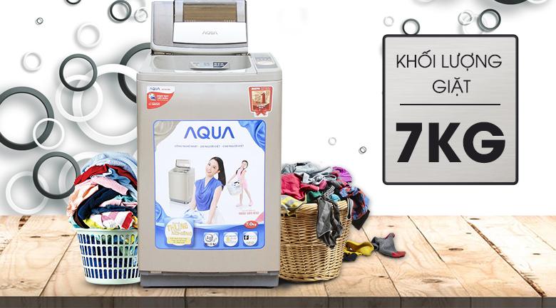 thiết kế- khối lượng may-giat-aqua-aqw-u700z1t-7-kg
