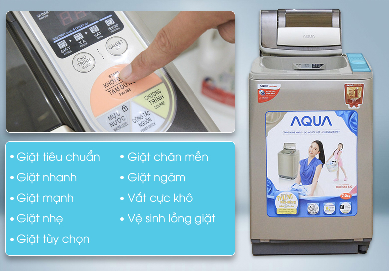 đa dạng tiện lợi may-giat-aqua-aqw-u700z1t-7-kg