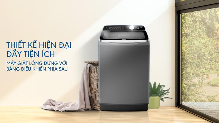 Thiết kế Máy giặt Aqua Inverter 10 KgAQW-DR100ET.S