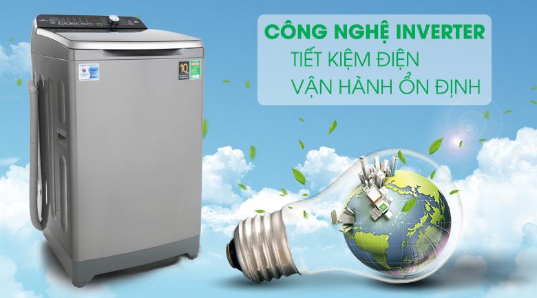 tiết kiệm điện Máy giặt Aqua Inverter 10 KgAQW-DR100ET.S