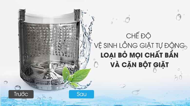 vệ sinh lồng giặt tự động Máy giặt Aqua Inverter 10 KgAQW-DR100ET.S
