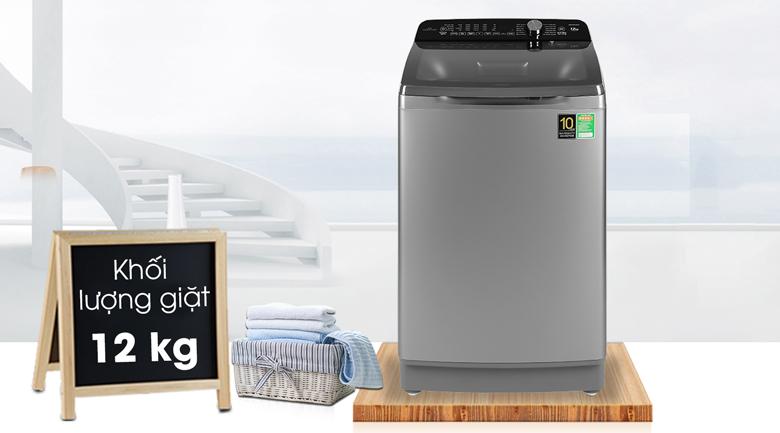khối lượng giặt may-giat-aqua-inverter-12-kg-aqw-dr120cts