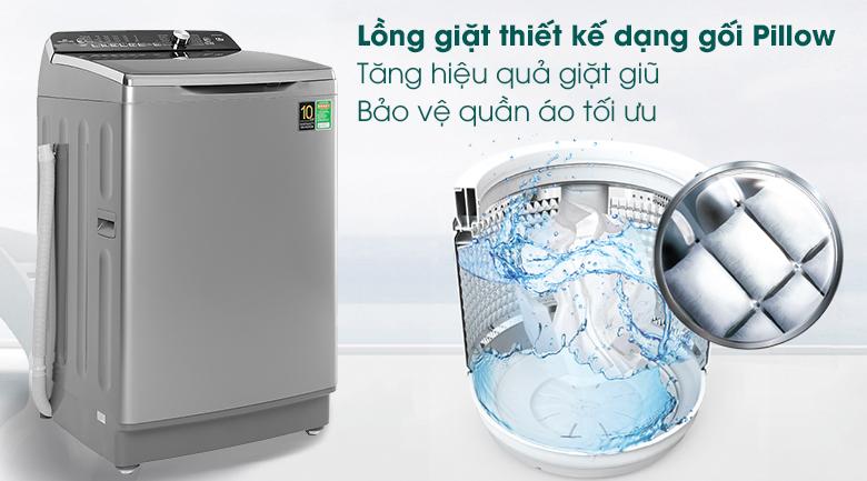 lồng giặt gối pillow may-giat-aqua-inverter-12-kg-aqw-dr120cts