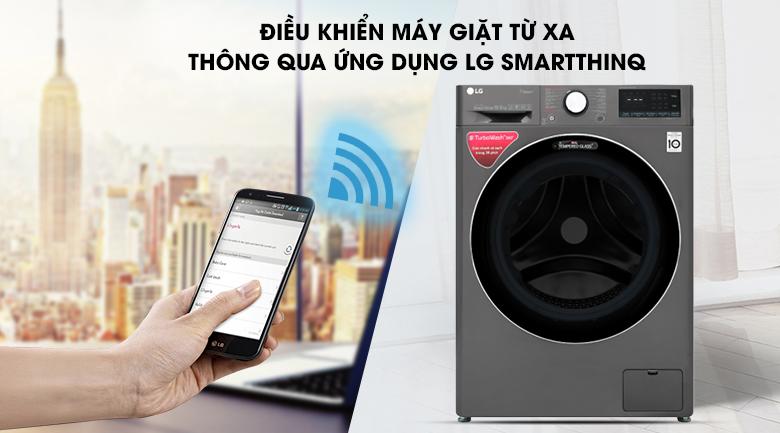 ứng dụng smart thinq Máy giặt LG Inverter 10.5 kg FV1450S2B