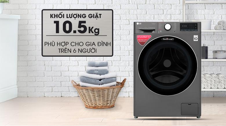 khối lượng LG Inverter 10.5 kg FV1450S2B