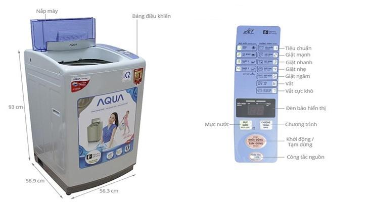 Hướng dãn sử dụng chế độ sấy quần áo máy giặt aqua