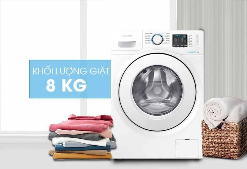thiết kế và khối lượng Máy giặt Samsung 8 kg WW80H5290EW/SV