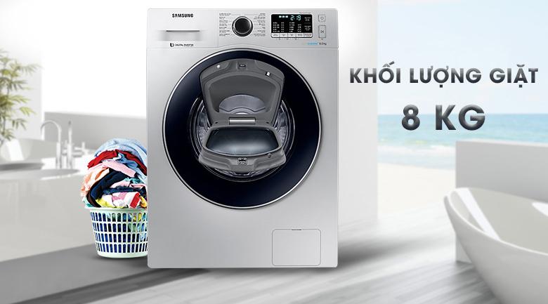 khối lượng Máy giặt Samsung AddWash Inverter 8 kg WW80K5410US/SV