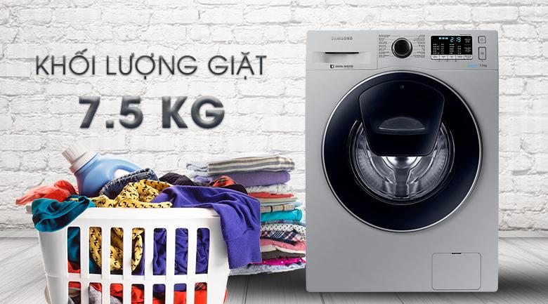 khối lượng Máy giặt Samsung Inverter 7.5 kg WW75K5210US/SV