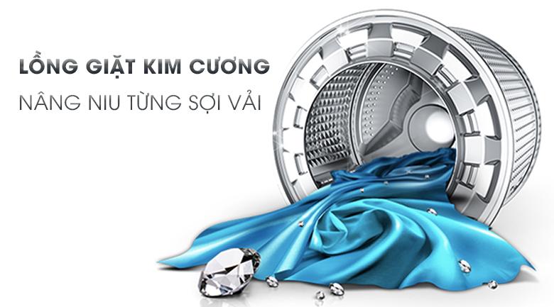 lồng giặt kim cương Máy giặt Samsung Inverter 7.5 kg WW75K5210US/SV