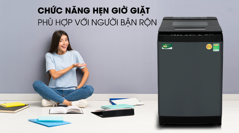 Máy giặt Toshiba Inverter 13 kgAW-DUJ1400GV hẹn giờ tiện lợi