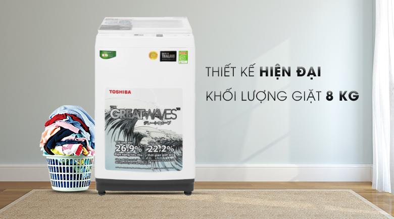 Máy giặt Toshiba 8 kg AW-K900DV(WW) thiết kế