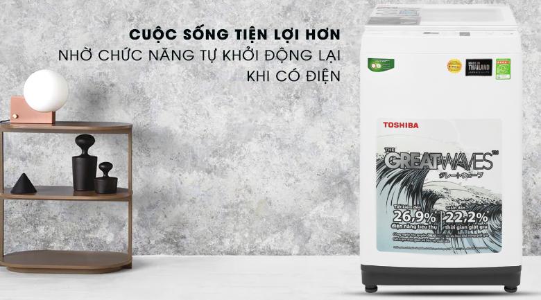 Máy giặt Toshiba 8 kg AW-K900DV(WW) tiện lợi