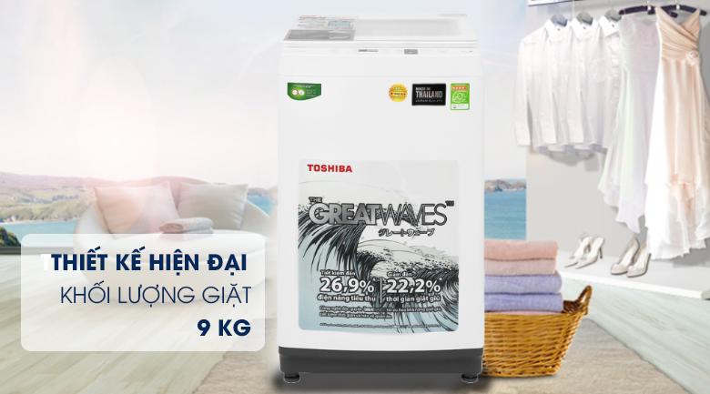 Máy giặt Toshiba 9 kg AW-K1000FV(WW) thiết kế