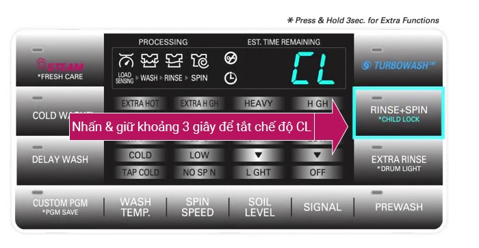 Máy giặt LG báo lỗi CL và cách xử lý