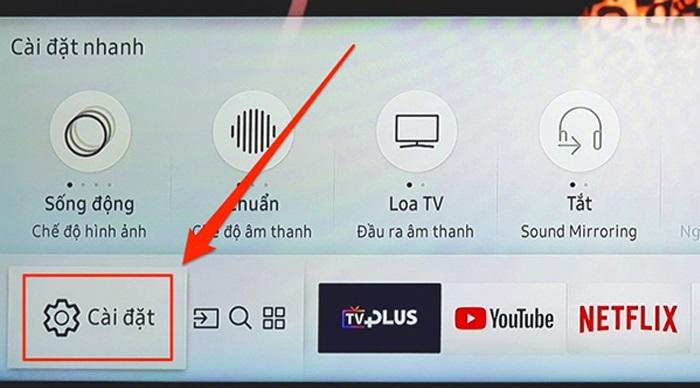 Tivi Samsung không vào được Youtube