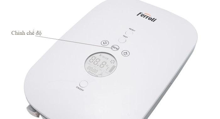 Cách sử dụng máy nước nóng Ferroli