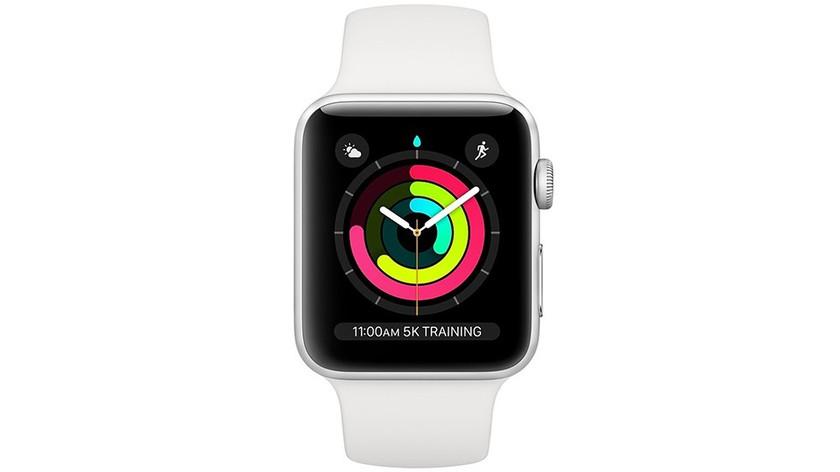 màn hình apple-watch-series-3-gps-42mm-vien-nhom-bac-day-mau-trang-mtf22vna