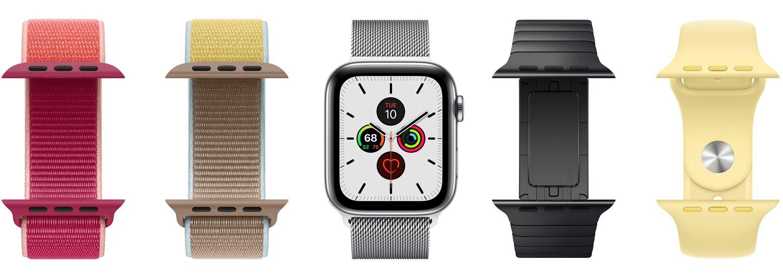 thay dây đeo dễ dàng Apple Watch Series 5 GPS, 44mm viền nhôm xám dây cao su đenMWVF2VN/A