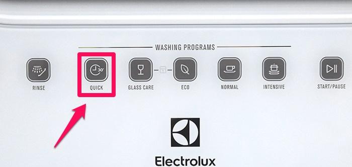 Một số chương trình rửa trên máy rửa chén Electrolux