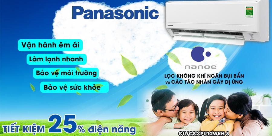 MÁY LẠNH PANASONIC 1.5HP XPU12WKH-8 | MẪU 2020