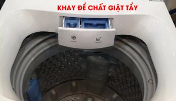 Cho bột giặt vào máy giặt TOSHIBA